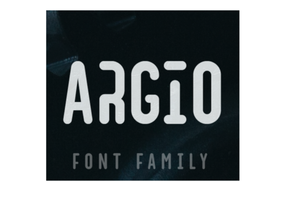 Print on Demand: Argio Display Font By Shaped Fonts