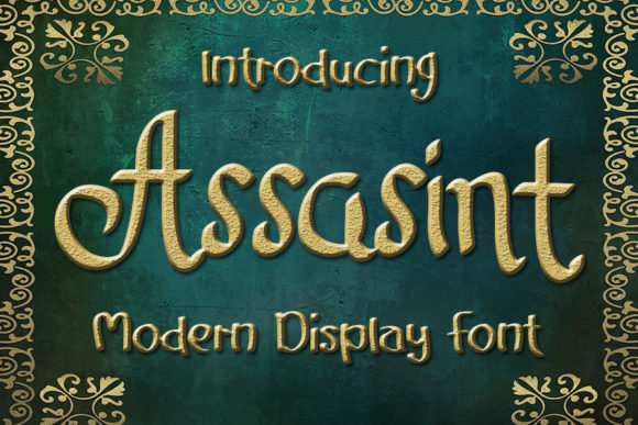 Print on Demand: Assasint Script & Handwritten Font By Eddygoodboy
