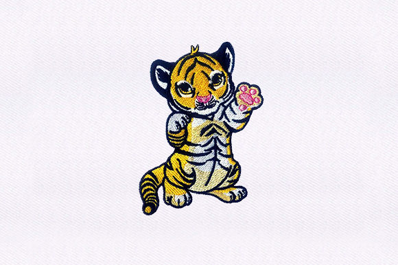 Baby Tiger Design Baby Animals Embroidery Design By DigitEMB