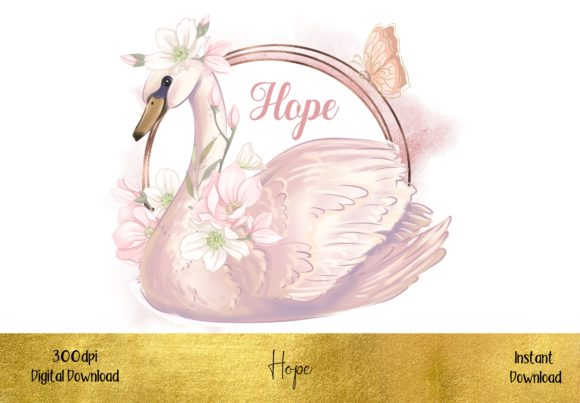 Beautiful & Inspirational Swan Graphic Illustrations By STBB