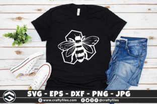 Print on Demand: Bee Honey Bee Happy SVG Graphic Crafts By Crafty Files