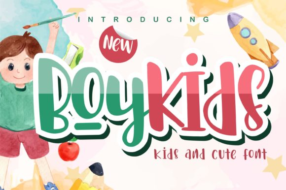 Print on Demand: Boykids Display Font By letterenastudios