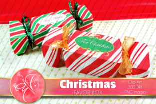 Christmas Candy Favor Boxes Graphic Crafts By paperart.bymc