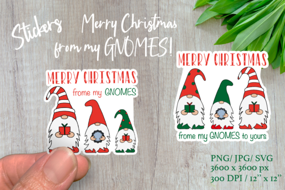 Christmas Gnomes. Merry Christmas Sticke Graphic Illustrations By Createya Design