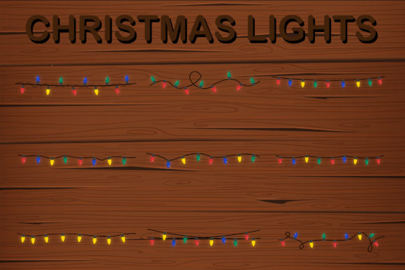Print on Demand: Christmas Lights for Winter Decoration Graphic Illustrations By IsaraDesign