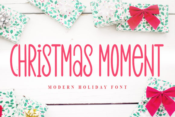 Print on Demand: Christmas Moment Script & Handwritten Font By NYA Letter