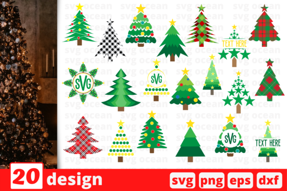 Christmas Tree SVG Bundle Graphic Crafts By SvgOcean