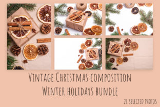 Print on Demand: Christmas Vintage Composition Bundle Graphic Holidays By frostroomhead