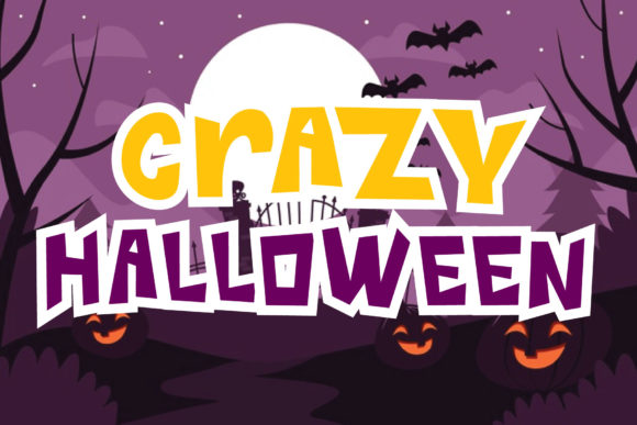 Print on Demand: Crazy Halloween Display Font By goodigital
