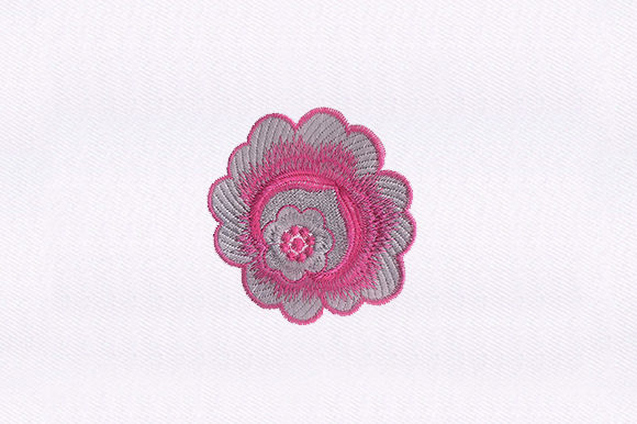 Delicate Pink Flower Design Single Flowers & Plants Embroidery Design By DigitEMB
