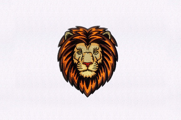 Detailed Lion Design Wild Animals Embroidery Design By DigitEMB