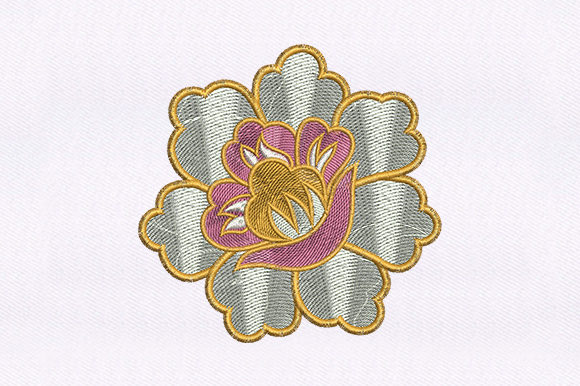 Exquisitely Flower Design Single Flowers & Plants Embroidery Design By DigitEMB