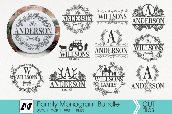 Family Monogram Svg Bundle Gráfico Crafts Por Pinoyartkreatib