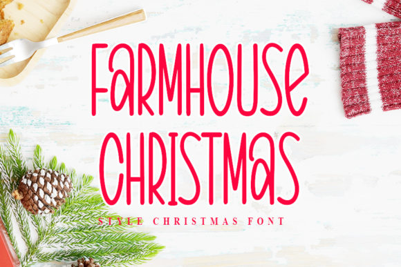 Print on Demand: Farmhouse Christmas Script & Handwritten Font By NYA Letter