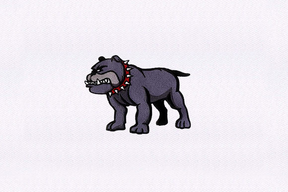 Ferocious Bulldog Design Dogs Embroidery Design By DigitEMB