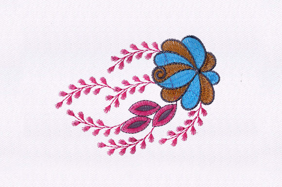 Flower Design Single Flowers & Plants Embroidery Design By DigitEMB