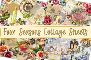 Print on Demand: Four Seasons Collage Sheets 8.5