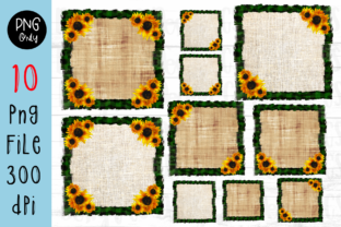 Print on Demand: Frame Sublimation Sunflower Background Graphic Crafts By CSDesign