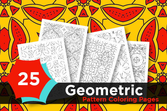 Print on Demand: Geometric Coloring Pattern Pages Shapes Graphic Coloring Pages & Books Adults By Riduwan Molla