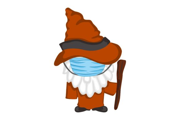 Gnomes in Halloween Wear Mask Set Graphic Preview