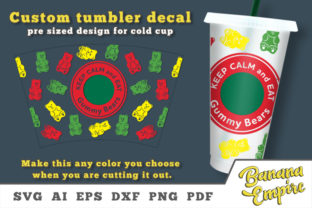Print on Demand: Gummy Bears Cold Cup Decal Graphic Crafts By Banana Empire