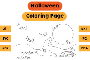 Halloween Coloring Page 63 Graphic Coloring Pages & Books Kids By isalsemarang