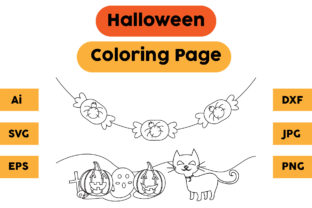 Halloween Coloring Page 69 Graphic Coloring Pages & Books Kids By isalsemarang