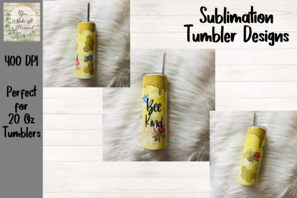 Print on Demand: Honey Bee Tumbler, Sublimation Design Graphic Print Templates By You Make It Personal