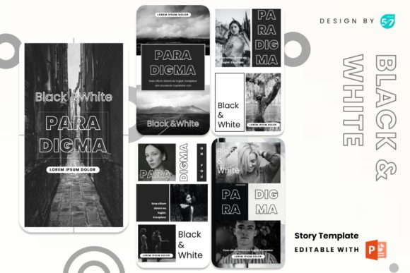 Instagram Stories - Black and White Graphic Presentation Templates By 57creative