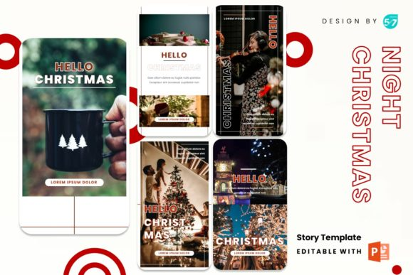 Instagram Stories - Hello Christmas Graphic Presentation Templates By 57creative