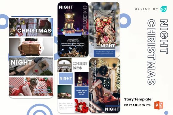 Instagram Stories - Night Christmas Graphic Presentation Templates By 57creative