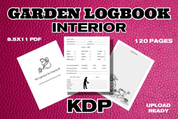 KDP Garden Logbook Interior Graphic KDP Interiors By .99 Cent Digital Products
