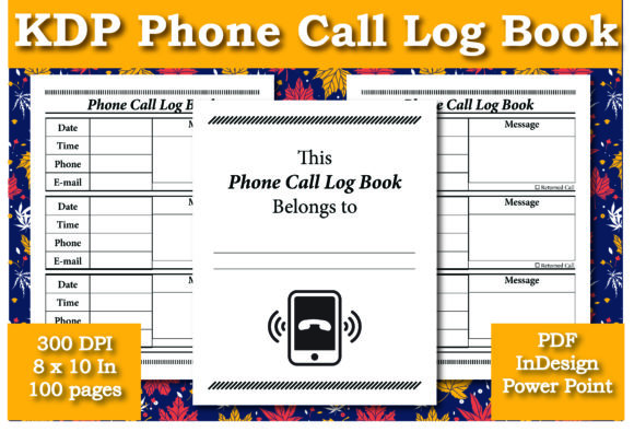 Print on Demand: KDP Phone Call Log Book Interior Graphic KDP Interiors By Ivana Prue