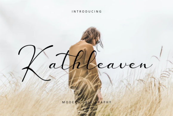 Print on Demand: Kathleaven Script & Handwritten Font By rudhisasmito