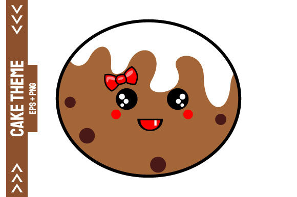 Kawaii Chocolate Cake Graphic Crafts By Yapivector