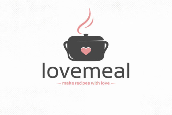 Love Meal Vector Logo Template Graphic Logos By vectorwithin