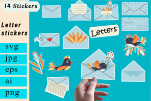 Print on Demand: Mail Stickers. Planner Stickers. Graphic Illustrations By vitaminka26