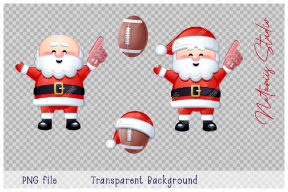 Merry Christmas Happy New Year. Football Graphic Design