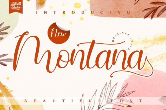 Print on Demand: Montana Script & Handwritten Font By letterenastudios