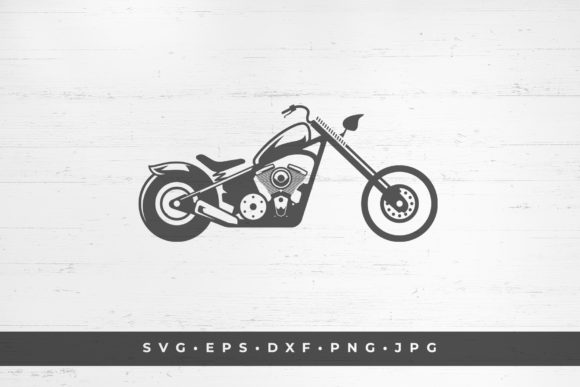 Motorcycle Icon Isolated on White Graphic Illustrationen By vasyako1984