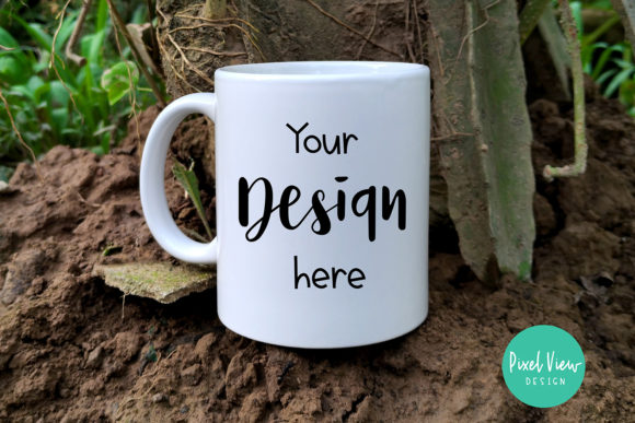 Print on Demand: Mug Mockup in a Mud Graphic Product Mockups By Pixel View Design