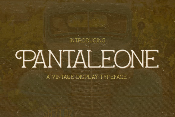 Print on Demand: Pantaleone Display Font By Rillatype