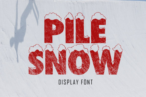 Print on Demand: Pile Snow Decorative Font By Aqeela Studio