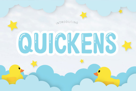 Print on Demand: Quickens Display Font By All About Design