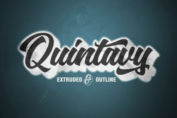 Print on Demand: Quintavy Script & Handwritten Font By Groens Studio