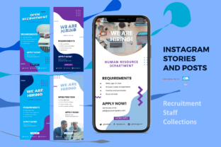 Print on Demand: Recruitment Instagram Stories and Posts Graphic Presentation Templates By rivatxfz