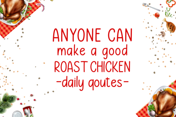Roast Chicken Font Preview