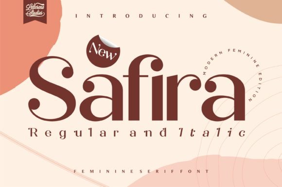 Print on Demand: Safira Serif Font By letterenastudios