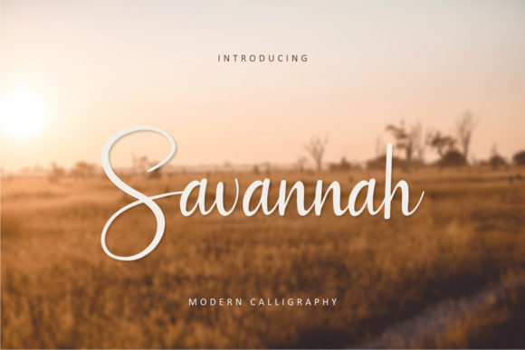 Print on Demand: Savannah Script & Handwritten Font By rudhisasmito