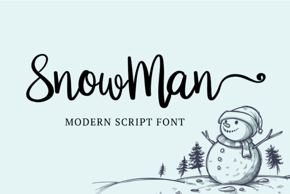 Print on Demand: Snowman Script & Handwritten Font By AquariiD
